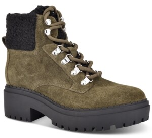 Marc Fisher Leigan Lug-Sole Hiker Boots Women's Shoes