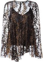 Opening Ceremony tulle overlayer blouse - women - Nylon/Polyester - 2