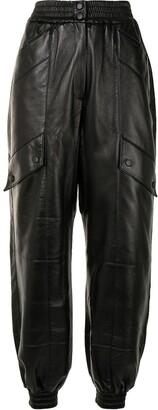 MATÉRIEL Faux Leather Cargo Trousers