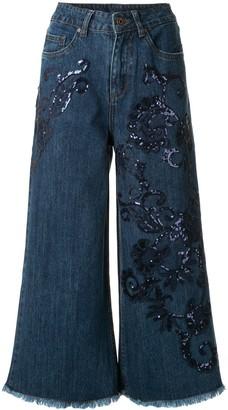 Antonio Marras Wide-Leg Cropped Jeans