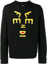 Fendi letters face sweatshirt