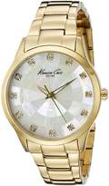 Kenneth Cole New York Men's KC0013 Dress Crystal-Accented Gold-Tone Stainless Steel Watch