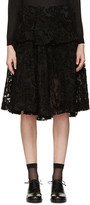 Simone Rocha Black Embroidered Tulle Skirt