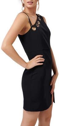 Forever New Kiki Asymmetric Bodice Eyelet Mini Dress