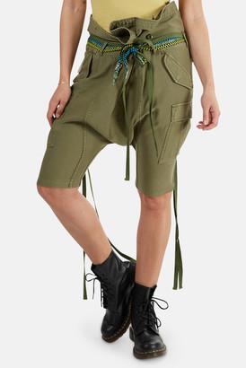 R 13 Rolled Waist Cargo Shorts