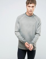 ONLY & SONS Crew Neck Sweat with Cut and Sew Raglan Sleeve in Oil Wash