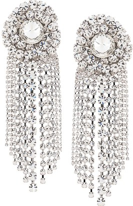 Alessandra Rich Faba spiral crystal clip-on earrings