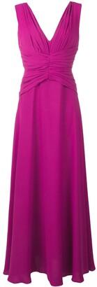 Rhea Costa Ruched Flare Dress