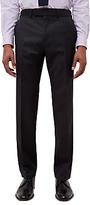 Jaeger Diamond Regular Fit Suit Trousers, Charcoal