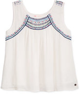 Roxy Embroidered Dotty Folk Tank, Big Girls (7-16)