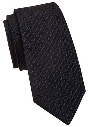 Emporio Armani Jacquard Check Silk-Blend Tie
