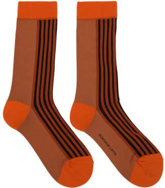 Eckhaus Latta Orange Contrast Socks