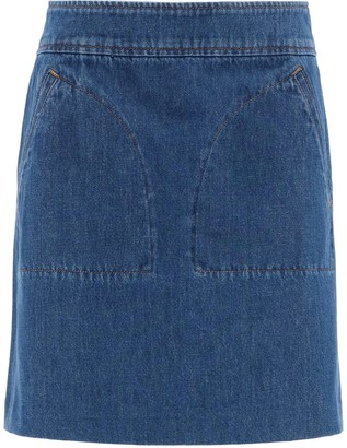 A.P.C. Shanya Denim Mini Skirt