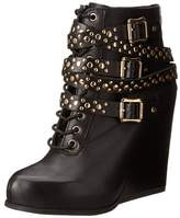 BCBGeneration Womens Larissa Leather Pointed Toe Ankle Fashion Boots.