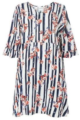 Dorothy Perkins Womens **Juna Rose Curve Multi Coloured 3/4 Sleeve Cuff Skater Dress, Multi Colour