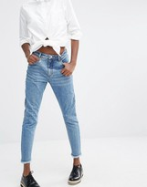Monki Raw Edge High Waist Jeans