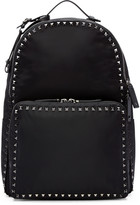 Valentino Black Nylon Rockstud Backpack