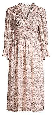 Rebecca Taylor Women's Francesca V-Neck Midi Dress