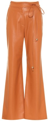 Nanushka Chimo faux leather wide-leg pants