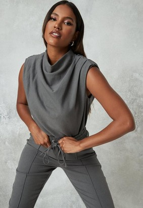 Missguided Co Ord High Cowl Drape Top
