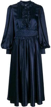Temperley London satin fit-and-flare dress