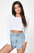 Lisakai Long Sleeve Ribbed Crop T-Shirt