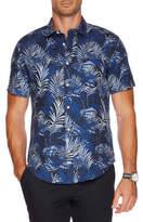 Nautica Short Sleeve Print Linen Shirt