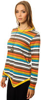 RVCA The Quintana Roo Stripe Top in Blue Jay