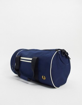 Fred Perry twin tipped barrel bag in navy