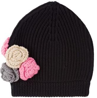 Miu Miu Rose Embroidered Knitted Beanie