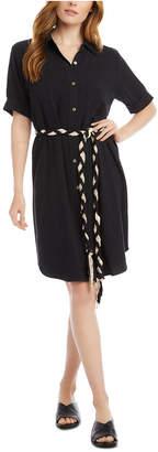 Karen Kane Braided-Belt Shirtdress