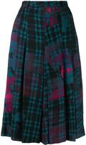 Jean Louis Scherrer Pre Owned 1970's check midi skirt