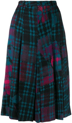 Jean Louis Scherrer Pre-Owned 1970's Check Midi Skirt