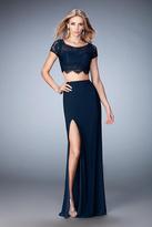 La Femme 22082 Two Piece Lace Sheath Dress