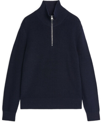 Arket Wool & Cotton Half Zip Jumper