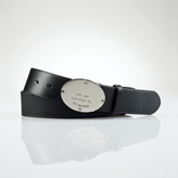 Ralph Lauren Leather Logo-Plaque Belt