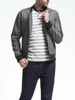 Banana Republic Bonded Knit Bomber Jacket