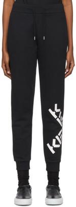 Kenzo Black Sport Big X Jogging Lounge Pants
