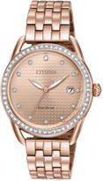 Citizen Drive from Eco-Drive Women's Pink Gold-Tone Stainless Steel Bracelet Watch 37mm