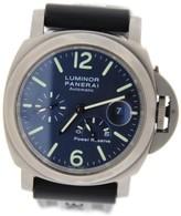 Panerai PAM93 Luminor Power Reserve Blue Dial Titanium Watch