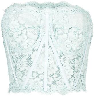 Dolce & Gabbana Strapless Lace Boned Bodice