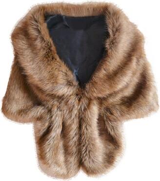 Beautytop Scarfs Beautytop Women Warm Scarfs For Winter Imitation Fur Solid Scarves Fashion Elegant Bridal Wedding Faux Fur Long Shawl Wrap Collar Scarf Scarves Wraps