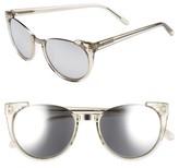 Linda Farrow Women's 54Mm Cat Eye Sunglasses - Truffle White Gold