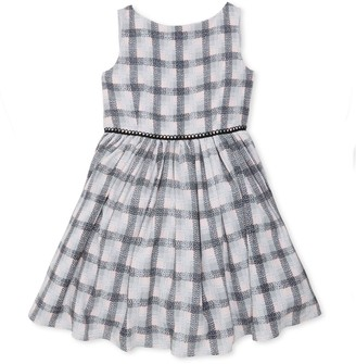 Pippa Pastourelle By & Julie Little Girl's Sleeveless Plaid Crepe Dress
