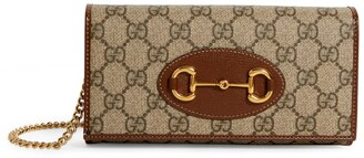 Gucci Gg Supreme Horsebit 1955 Wallet-On-Chain