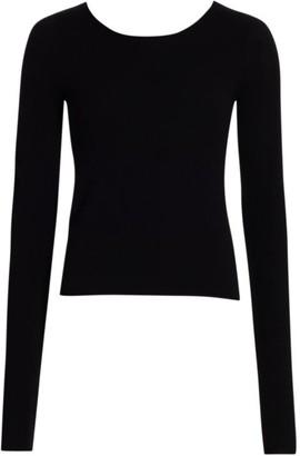 Helmut Lang Twist Open-Back Wool Sweater