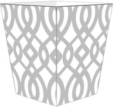 The Well Appointed House Grey Madison Decoupage Wastebasket with Optional Tissue Box