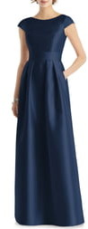Alfred Sung Cap Sleeve A-Line Gown