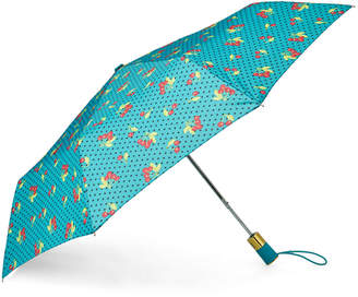 Betsey Johnson Cherry Dot Auto Open Umbrella