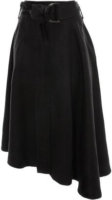 J.W.Anderson asymmetric D-ring midi skirt